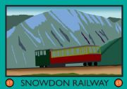 Vintage Welsh poster - Snowdon Summit Railway
